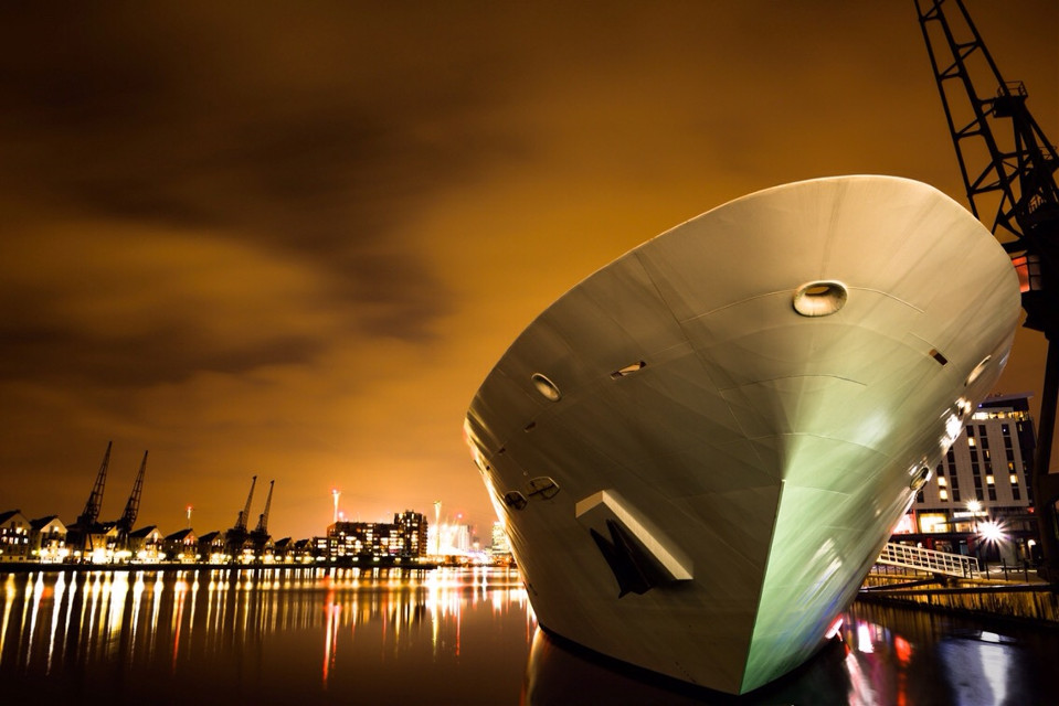 #boat #longexposure #night #river
