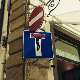 road sign streetart art fl