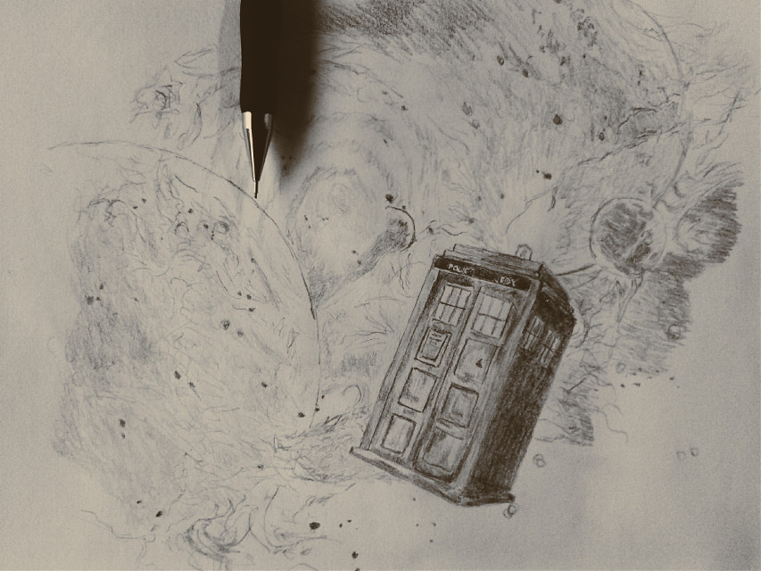 Hey @madlene_pa this one is for you :D  Half an hour for the tardis even though i dont like doctor who so much but i hope you who like the doctor like this :D #drawing #art