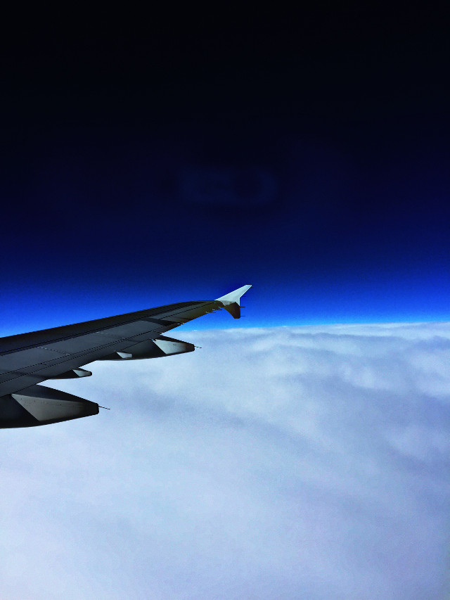 Flying through space #interesting #art #plane #space #california #featured