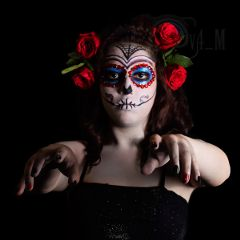 halloween makeup mexican skull catrina