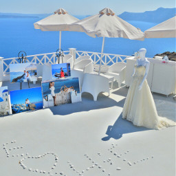 wedding islands sea blue white