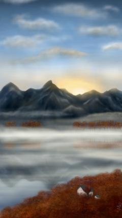 wdpfog drawing fog landscape sunset