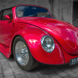 photography car vintage red beetle