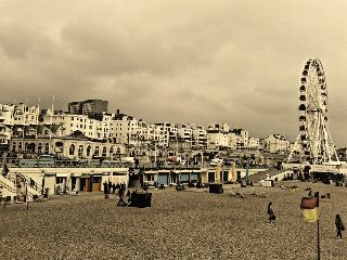 photography sepia summer travel brighton