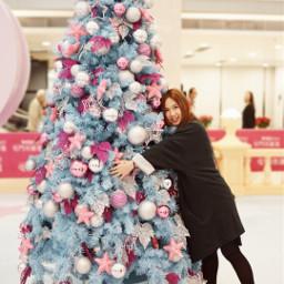 christmastree hug girl people photography