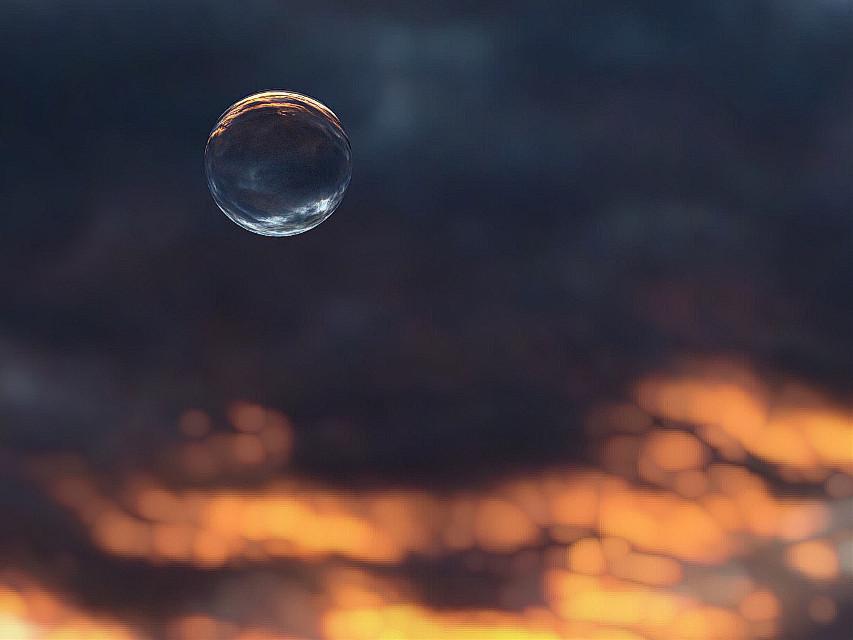 #sunset #sphere  #sea #clouds