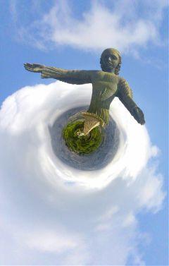 statue angel nature freetoedit colorful