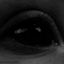 blackandwhite eye people freetoedit