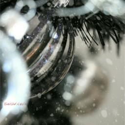 tree drawsnow decorating christmas bokeh