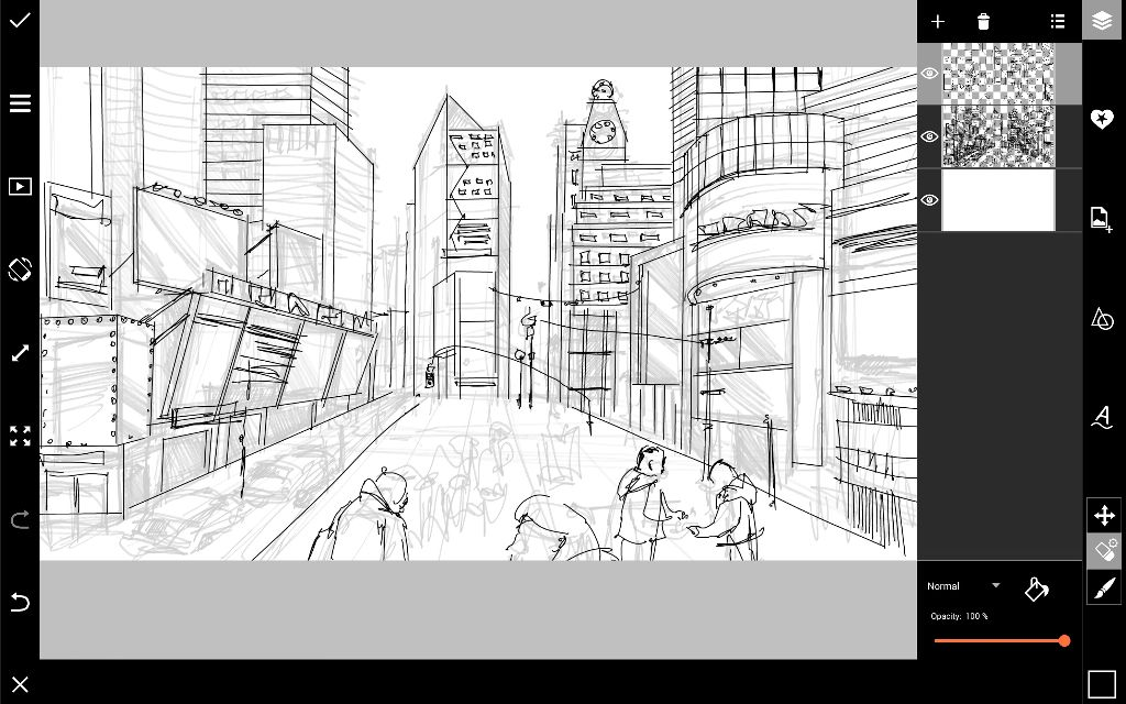 Times Square outline drawing
