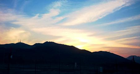mountains sunset sky nature beautiful