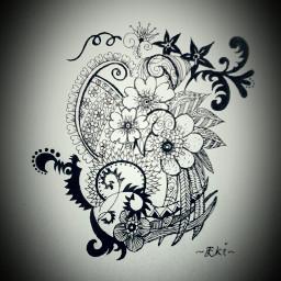 blackandwhite drawing emotions flower