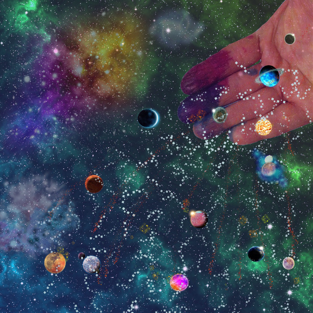 #hands #dailyinspiration #ruthfeiertag #addapicture #draw #clipart #galaxy #stars #planets #imagination #ink