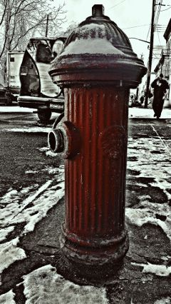 winter snow firehydrant crisp seasonfirstsnow