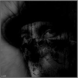 masks photoblend blackandwhite artistselfie