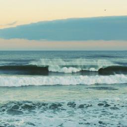waves ocean sunset photography vintage
