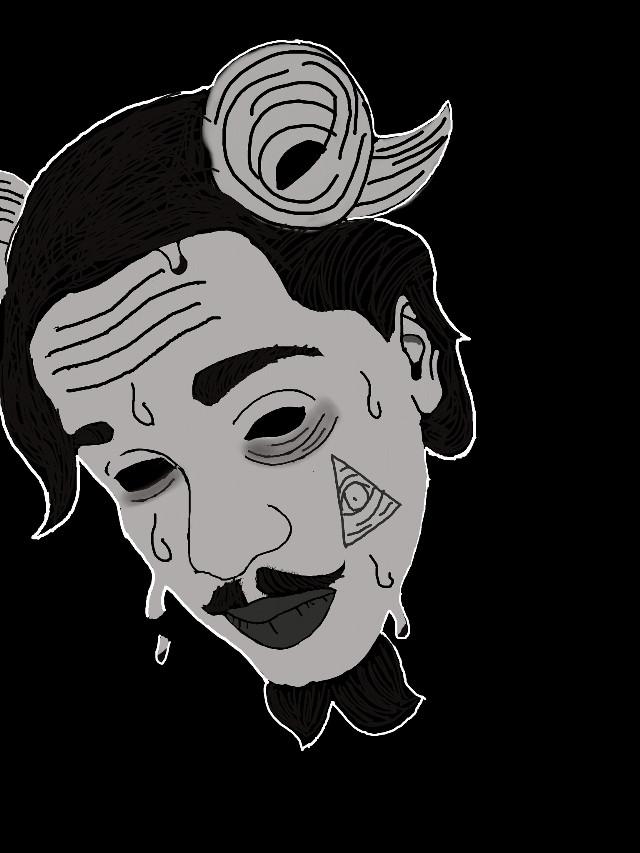 #Grimeart #art #macabre #blackandwhite #666 #baphomet #lucifer