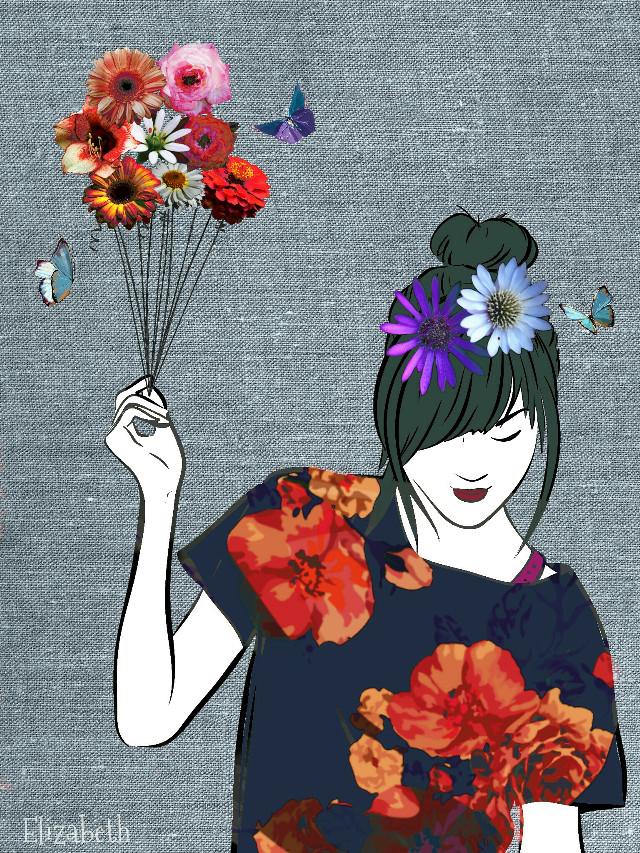 Good Night PA...see u!!  #flowerarrangement #madewithpicsart #100%picsart #cliparts #colorful #flowers