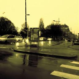 brest france brittany rain winter