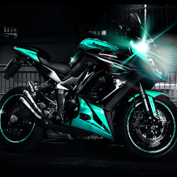 kawasaki green colorsplash bikes background