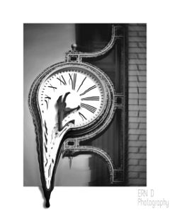 blackandwhite photography clock border time
