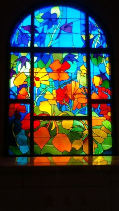 wppstainedglass flowers colorful