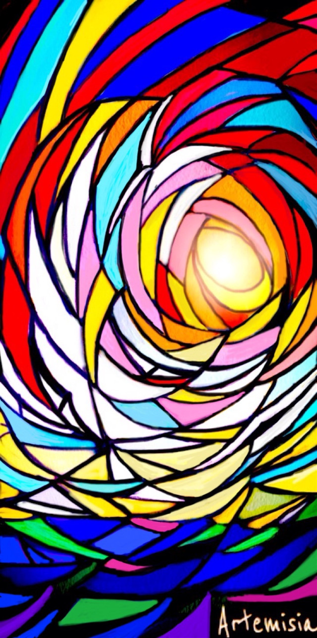 Light and faith #wdpstainedglass #drawing #abstract #digitalart