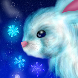 wdpbunny blue cute bunny snowflake