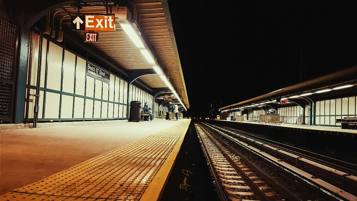 """""""Nightly Explorer"""" #lightroomedits #create #explore #colorful #emotions #hdr #love #photography #quotesandsayings #spring #travel #vintage #mta #tones #capture #vanishpoint #depthofview #symmetry #nyc #queens"""
