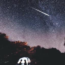 starship stars universe galaxy sky