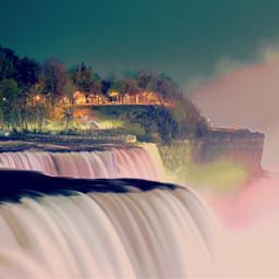 falls niagara beauty nature illumination