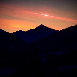 tramonto mountain