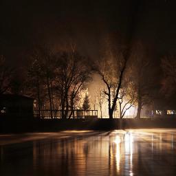 meri river reflection night edirne