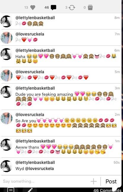Dude i jut love talking to her so is so funny haha lol 😂💖💓🙊🙉🙈 @lovesruckela