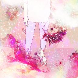 water underwater art pink artistic artist fish koi edit FreeToEdit