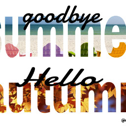 seasons summer autumn myedit colorful
