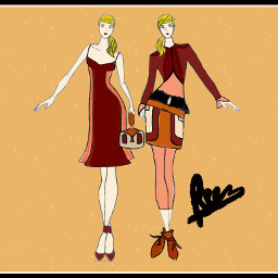 my sketch drawing design dresses