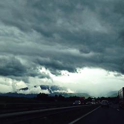 clouds rain nature sky hills